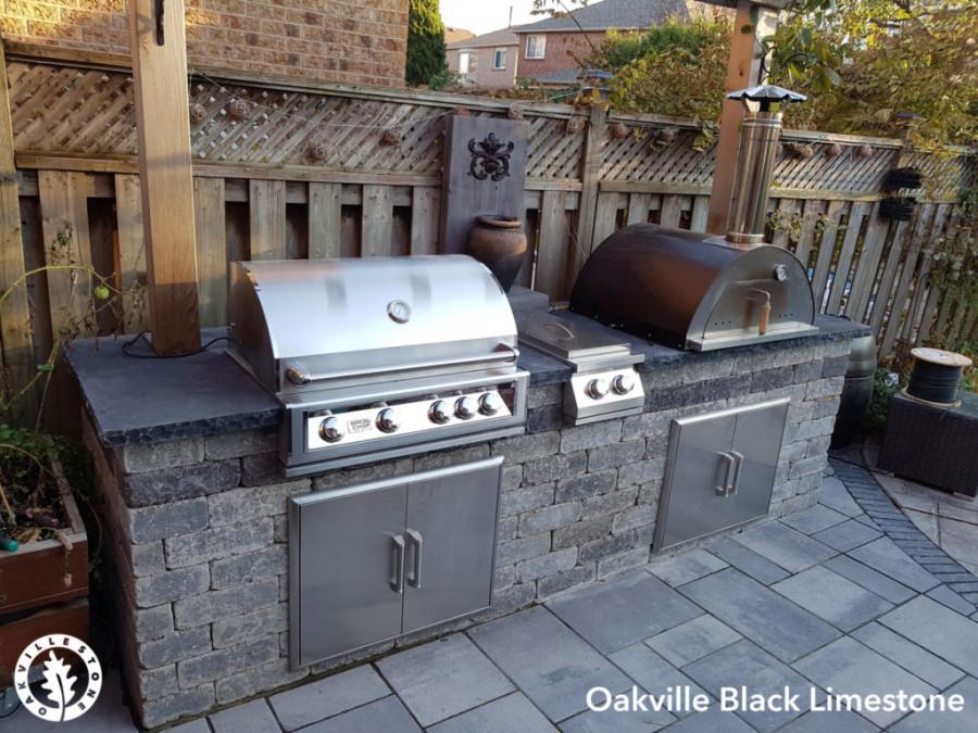 Black Limestone BBQ Slab
