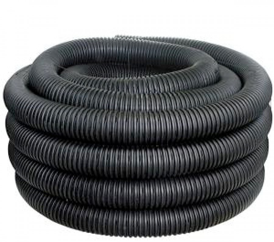 """Perforated Drainage Pipe 4""""x100'"""