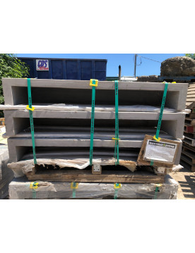 4 FT HOLLOW natural stone step